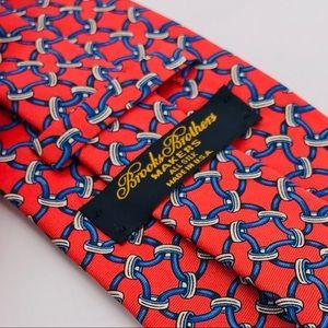 100% Silk Tie Horse Bit print by Brooks Brothers